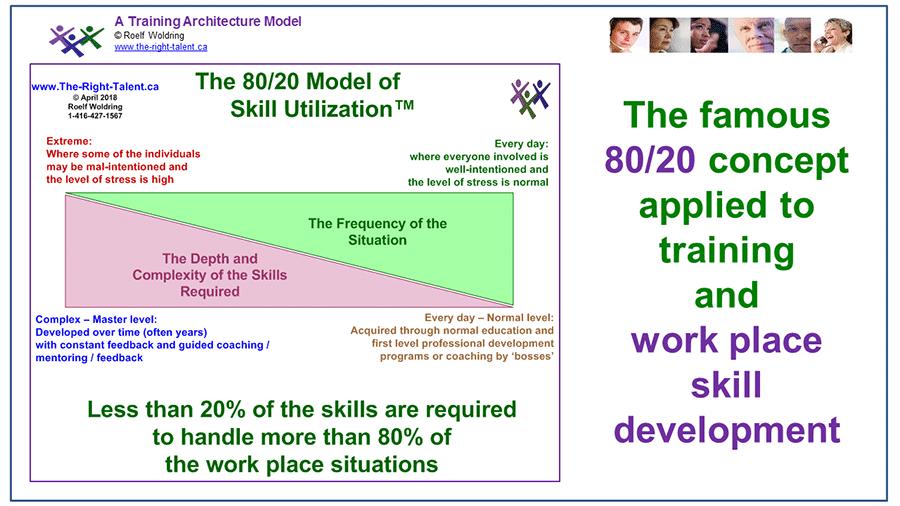 80/20 Model of Skill Utilization