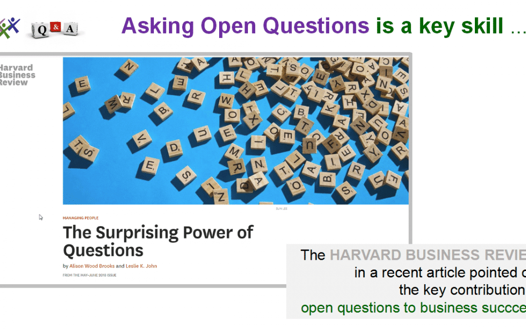 Asking Open Questions: A New E-Learning Program on Udemy